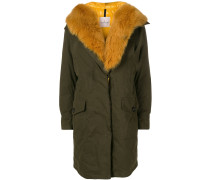 fox fur midi coat