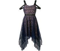 Asymmetrisches Kleid mit floraler Spitze
