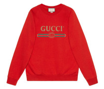 Oversized-Sweatshirt mit Pailletten-Patches