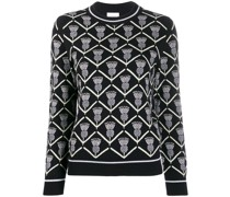 embroidered knitted jumper