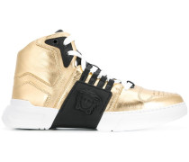 'Medusa' High-Top-Sneakers in Metallic-Optik