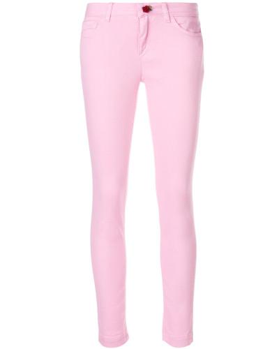 Skinny-Jeans mit Rosenknopf