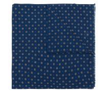 dot print fringed scarf