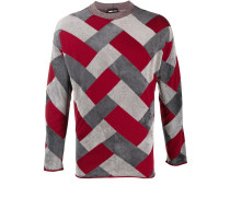 Gestrickter Intarsien-Pullover