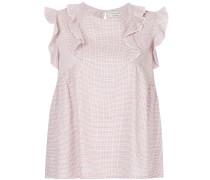 sleeveless ruffle blouse