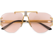 aviator double nose beige sunglasses