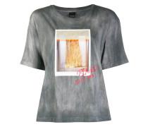 T-Shirt mit Lamé-Print