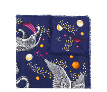 "Seidenschal mit ""Space Animals""-Print"