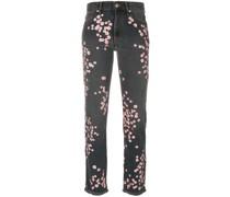 'Holan' Jeans mit floraler Stickerei