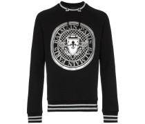 black Coin logo print jumper