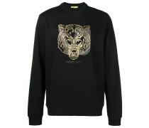 Sweatshirt mit Metallic-Stickerei
