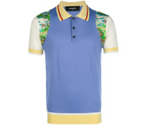 Poloshirt in Colour-Block-Optik