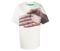 Oversized-T-Shirt mit Hand-Print