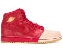 two-tone hi-top sneakers