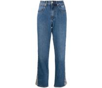 Jeans mit Streifen mit Python-Effekt