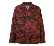 Oversized-Mantel mit Camouflage-Print