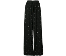 pearl embroidered trousers