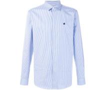 striped star patch shirt