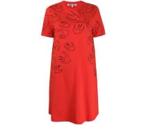 T-Shirtkleid mit Schwalben-Print