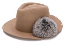 pom-pom fedora hat