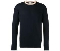 Pullover mit gestreiftem Kragen