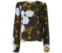hexagon print blouse
