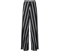 striped wide leg trousers