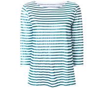 Pullover mit Metallic-Streifen