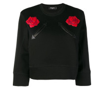 leather applique sweatshirt
