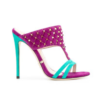 colour-block sandals