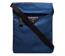 blue small folding messenger bag