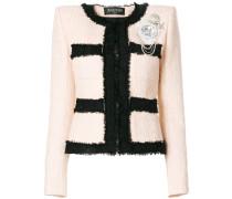 bouclé embellished jacket