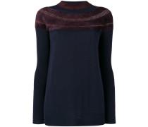 jacquard detail sweater
