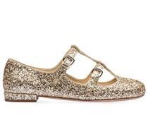 Glitter-Ballerinas mit Schnallen