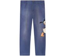 Jeans mit Donald-Duck-Motiv
