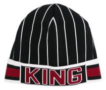 """Gestreifte Mütze mit """"King""""-Schriftzug"""