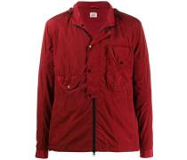 hooded overshirt jacket