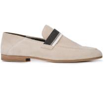 Loafer mit Metallic-Riemen