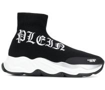 Sock-Sneakers mit Logo-Print