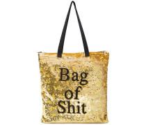 sequinned tote bag