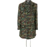 Seiden-Regenmantel mit Camouflage-Print