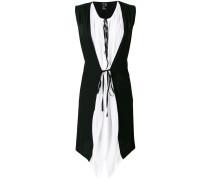 waistcoat-design shirt dress