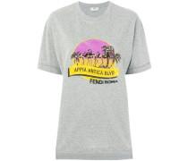 Bedrucktes T-Shirt mit Applikationen