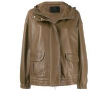 contrast stitching jacket