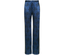printed flared trousers