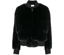 logomania fur bomber jacket