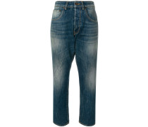 cropped loose-fitting jeans