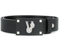 designer logo embellished belt