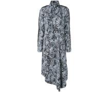 Langärmeliges Kleid mit Zebra-Print