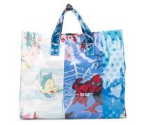 cartoon print shopper bag